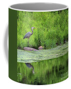 Great Blue Heron Square Coffee Mug