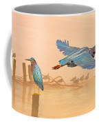 Green Heron Sunrise Coffee Mug