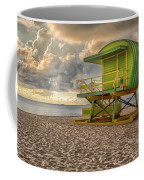 Green Lifeguard Stand Coffee Mug by Alison Frank