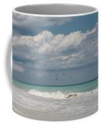 Group Of Pelicans Above The Ocean Coffee Mug