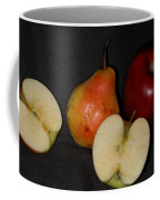 Half An Apple On Black Coffee Mug