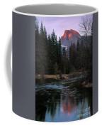 Half Dome Reflection Over Merced River At Sunset, Yosemite National Park  Coffee Mug