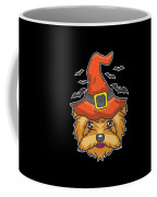 Halloween Shirt Witch Yorkshire Dog Costume Gift  Coffee Mug
