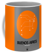 Hamburg Orange Subway Map Coffee Mug