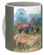 Hanging In There Coffee Mug by Val Stokes