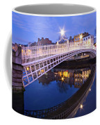Ha'penny Bridge At Blue Hour Coffee Mug by Barry O Carroll