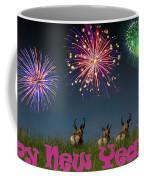 Happy New Year 2019 - Three Pronghorn Antelope Coffee Mug