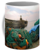 harbour pier and fishings nets at Pittenweem, Fife Coffee Mug