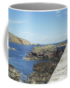 harbour wall and cliffs at St. Abbs, Berwickshire Coffee Mug
