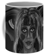 Haunted Black And White Coffee Mug by Joan Stratton