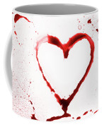 Heart Shape From Splaches And Blobs Coffee Mug