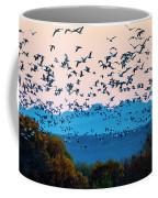 Herd Of Snow Geese In Flight, Soccoro Coffee Mug