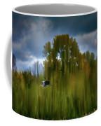 Heron Flying Abstract #h9 Coffee Mug