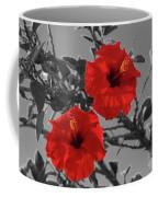 Hibiscus Selective Color Coffee Mug