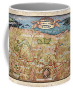 Hiking Map El Camino Spain Map Custom Map Art Coffee Mug