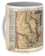 Historical Map Hand Painted Arkansaws Territory Coffee Mug