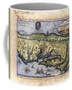 Historical Map Hand Painted Drake Virginia Coffee Mug