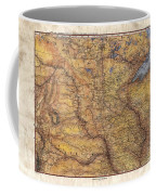 Historical Map Hand Painted Lake Superior North Dakota Minnesota Coffee Mug