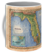 Historical Map Hand Painted Vintage Florida Colton Coffee Mug