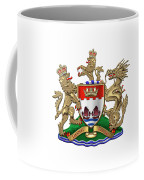 Hong Kong - 1959-1997 Coat Of Arms Over White Leather  Coffee Mug