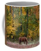 Horse In Fall Coffee Mug