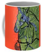Horse On Orange And Green Coffee Mug