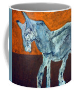 Horse On Orange Coffee Mug