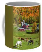 Horses Grazing In Autumn Coffee Mug
