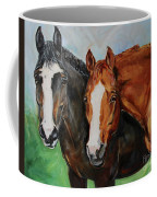 Horses In Oil Paint Coffee Mug