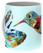 Hummingbird Blue - Sharon Cummings Coffee Mug