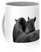 I Just Need A Hug. The Black Pony Bw Transparent Coffee Mug