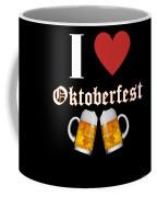 I Love Oktoberfest Tee Shirt Coffee Mug