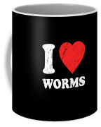 I Love Worms Coffee Mug