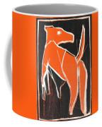 I Was Born In A Mine Orange Dog 33 Coffee Mug