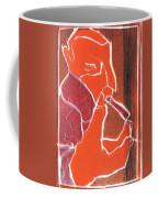 I Was Born In A Mine Woodcut 76 Coffee Mug