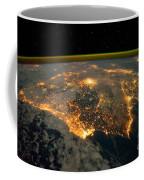 Iberian Peninsula From Space Coffee Mug