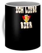 Ich Liebe Bier Fun German Oktoberfest Beer Festival Design For Beer Lovers And Beer Drinkers Coffee Mug