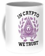 In Crypto We Trust Bitcoin Cryptocurrency Coffee Mug