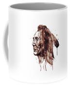 Indian Warrior Sepia Tones Coffee Mug