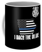 Iowa Police Appreciation Thin Blue Line I Back The Blue Coffee Mug