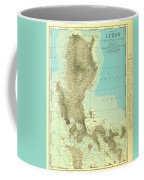 Island Of Luzon - Old Cartographic Map - Antique Maps Coffee Mug