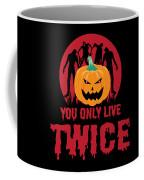 Jackolantern Scary Ghost Zombie Pumpkin Halloween Dark Coffee Mug