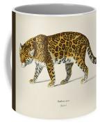 Jaguar  Panthera Onca  Illustrated By Charles Dessalines D' Orbigny  1806-1876  Coffee Mug