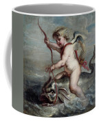 Jan Erasmus Quellinus / 'cupid On A Dolphin', Ca. 1630, Flemish School. Jan-erasmus Quellinus . Coffee Mug