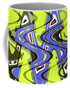 Janca Yellow And Blue Wave Abstract, Coffee Mug