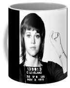 Jane Fonda Mug Shot Coffee Mug