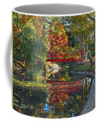 Japanese Garden Red Bridge Reflection Coffee Mug