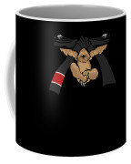 Jiu Jitsu Bjj Sloth Black Belt Light Coffee Mug