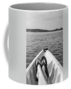 Kayaking In Black And White Coffee Mug