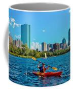 Kayaking On The Charles Coffee Mug